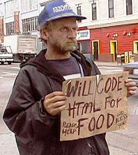 I will code for food